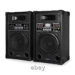 Hi-fi Active Pa Haut-parleurs Usb Sd Mp3 8 Bass Driver Dj Disco Karaoke Party System
