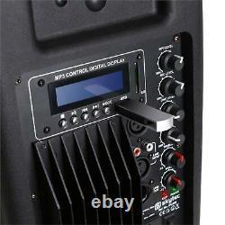 Hifi Active Power 15 Disco Dj Pa Haut-parleur 800w Bluetooth Interface Abs Monitor