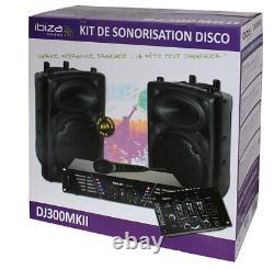 Ibiza Dj300mkii Disco Sound Set Mixer Haut-parleur Power Amplificateur Et Microphone Dj