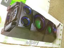 Ibiza Son Standup208 De Portable Haut-parleur Bluetooth Phares Directionnels Et Discothèque Nouveau