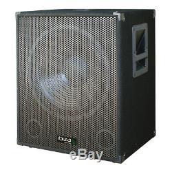 Ibiza Son Sub18a 1200w Basse Caisson De Basses Actif Bin Disco Dj Enceinte De Sonorisation