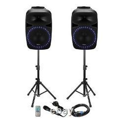 Ibiza Sound Pkg12a-set Haut-parleur Pa Sound System 12 800w Bluetooth Disco Inc MIC