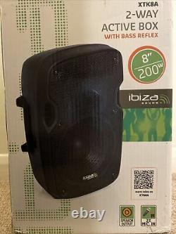 Ibiza Sound Xtk8a Haut-parleur Actif 8 200w Dj Disco Sound System