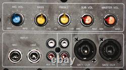 Ibiza Sub18a Active 18 Subwoofer 1200 Watt Amplificateur Bass Party Dj Disco Aux