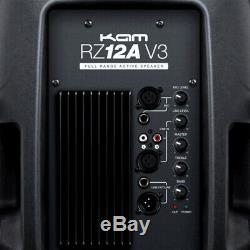 Kam Rz12a & Qtx Qt15a Active Speaker Package 3200w Dj Disco Sound System