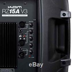Kam Rz15a 15 1200w Portable Speaker Actif Pa Pour Dj Disco Mariages Scène