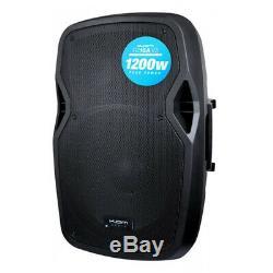 Kam Rz15a V3 1200w 15 Powered Haut-parleur Actif Pa Avec Eq Dj Disco Band Club Bar