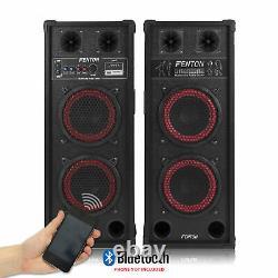 Karaoke Pa System Bluetooth Disco Party Haut-parleurs Avec Microphones Mp3 Câble
