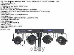 L'ensemble 11 Dj 30cm Haut-parleurs Trépied 38 CM Caisson De Graves Musicien 3300w Lumière