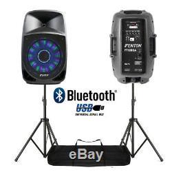 Le Karaoké De Disco De Bluetooth De Pa De Haut-parleurs Actifs Du Dj De Paire Allume 12 250w Avec Des Supports