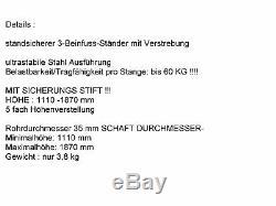 Le Pa Set 54 Dj 3wege 30 CM Parleurs Trépied 38 CM Caisson De Basse Musician 3700 Watt