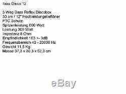 Les Pa Set 52 Dj 3wege 30 CM Haut-parleurs Trépied 38 Caisson De Graves Musicien 3000w Actif