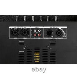 Loud Pa Speaker & Subwoofer Sound System Pour Mobile Dj Disco Party Easy Setup