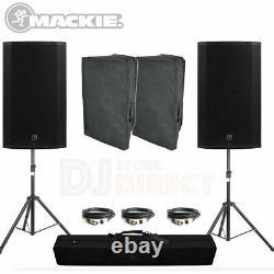 Mackie Thump15a V4 Haut-parleurs Actifs 2600w Bundle Party Club Dance Disco Pa