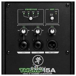 Mackie Thump 15a V4 Actif 15 Dj Disco Musicien Enceintes Sonores Inc. Pieds Et Câbles