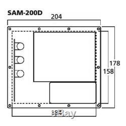 Monacor Sam-200d Module Subwoofer Actif Amplificateur Numérique Haut-parleur Pa Disco