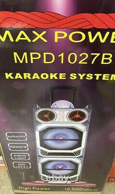 Mpd1027b Bluetooth 2x10'' Rechargeable Party Sound System Dj Disco Ball Karaoke
