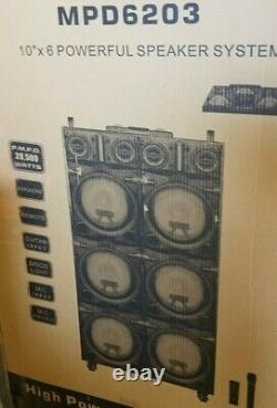 Mpd6203 20 500 Watts 6 10'' Intervenants Avec Disco Lights Karaoke Dj Professional
