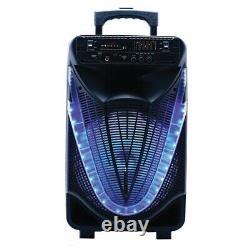 Naxa Nds-1233 Portable 12-inch Bluetooth Party Speaker Avec Disco Light