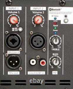 Neo Acoustics 12a 12 Active Pa Disco 2 Haut-parleur De Canal Avec Bluetooth 400/800w