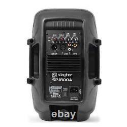 Nouveau 8 Pouces Active Pa Speaker 200w Mobile Dj Monitor Disco Club Karaoke Party
