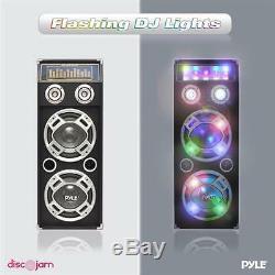 Nouveau Haut-parleur Bluetooth Bidirectionnel Alimenté Par Disco Jam Avec Psufm1035a 1000 W Et Éclairage Dj