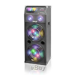 Nouveau Pyle Psufm1240p Système D'enceintes De Sono Bidirectionnelles Alimentées Par Disco Jam De 1400 Watts Avec Usb