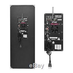 Nouveau Système De Haut-parleurs De Sono Amplifié Bidirectionnel Psufm1245a De 1400 Watts Avec Usb / Sd