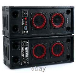 Pair Fenton Active Passive Pa Speakers Dual Bas 6.5 Loudspeakers Mobile Disco