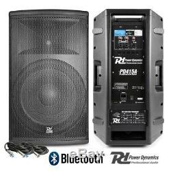 Paire Active Dj Haut-parleurs Pa Pro Système Bi-amp Disco Bluetooth 15 2800w