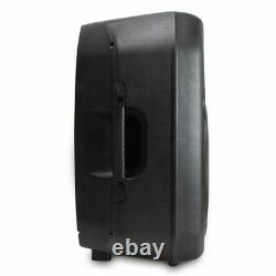 Paire Active Passive Pa System Speakers + Stands 12 Woofer 700w Dj Disco Party
