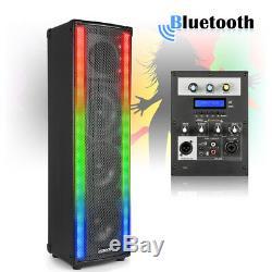 Paire D'enceintes House Party Disco Avec Bluetooth Et Del Clignotantes 800w