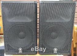 Paire D'enceintes Pa Yamaha Disco Dxr15 Actives Dj Disco Avec Couvercles Rembourrés