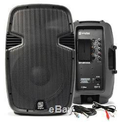 Paire De 12 Powered Actifs Haut-parleurs Mobile Dj Disco Party Pa Avec Câble 1200w