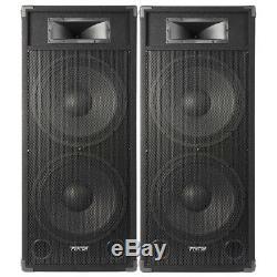 Paire De 15 Haut-parleurs Dj Actifs Actifs Disco Party System Skytec Csb215 3200w