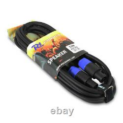 Paire De Enceintes Disco Active Powered 12 Dj Mobile Pa Avec Câbles 1200 Watts