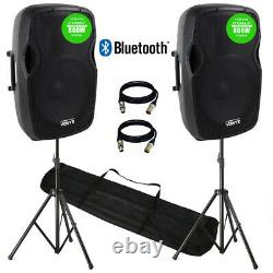 Paire De Haut-parleurs Ap1500 Active Dj Pa Sound System 15 Bluetooth Dj Disco