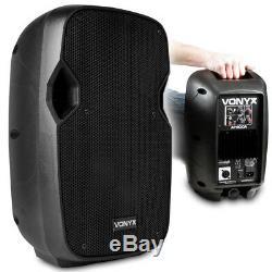 Paire De Haut-parleurs Disco Dj Mobile Powered Powered 8 Mobiles Avec Supports Et Câbles, 400 W