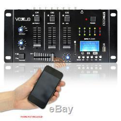 Paire De Haut-parleurs Disco Karaoké Domestiques Avec Mixeur Mp3 Bluetooth Usb Usb