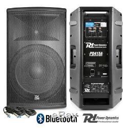 Paire De Haut-parleurs Dj Actifs, Système Disco Bi-amplifié Pa Pro Bluetooth 15 2800 W
