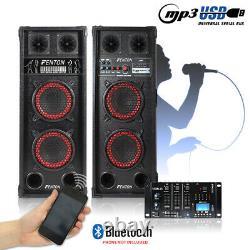 Paire De Haut-parleurs Maison Karaoke Bluetooth Disco Avec Mixeur Dj Usb Bluetooth