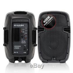 Paire De Haut-parleurs Mobiles Dj Disco Pa 10 Woofer Performer Portable 800w
