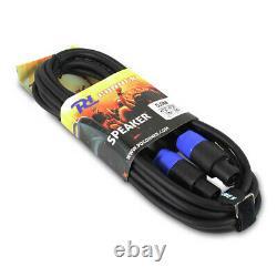 Paire De Haut-parleurs Mobiles Dj Pa Disco Powered 15 Avec Câbles 1600 Watts