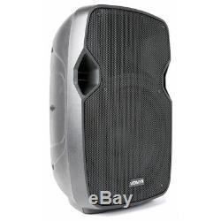 Paire De Powered Actifs 10 Mobile Dj Pa Disco Haut-parleurs Avec Des Câbles 800 Watts
