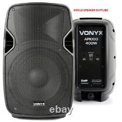 Paire De Powered Actifs 10 Mobile Dj Pa Disco Haut-parleurs Avec Des Stands Et Câbles 800w