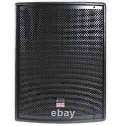 Paire De Studiomaster Drive 15 Sa Subwoofer Low Bass Bins Mobile Dj Disco Pa