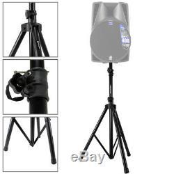 Paire De Vonyx 10 Passif Dj Haut-parleurs Avec Stands 1000w Mobile Disco Set
