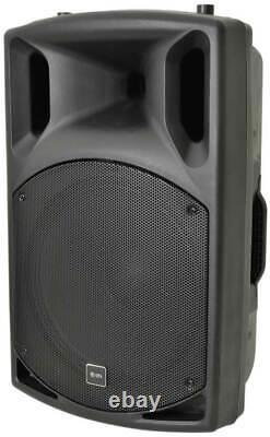 Paire Dj 15 Inch Abs Active Pa Speakers Disco Party Sound System 1000w