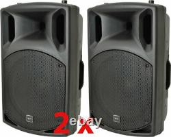 Paire Dj 15 Pouces Abs Active Pa Speakers Disco Party Sound System 1000w