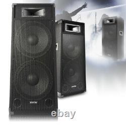 Paire Double 15 Dj Haut-parleurs Actifs Powered Disco Party Système Skytec Csb215 3200w